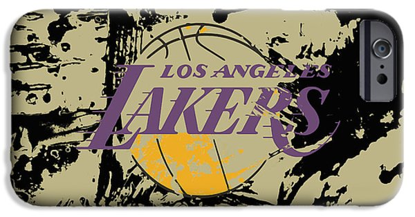 Los Angeles Lakers  IPhone Case by Brian Reaves
