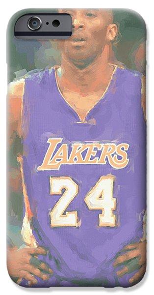 Los Angeles Lakers Kobe Bryant 2 IPhone Case by Joe Hamilton