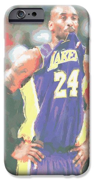 Los Angeles Lakers Kobe Bryant 3 IPhone Case by Joe Hamilton