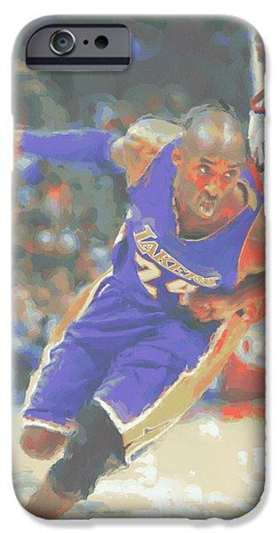 Los Angeles Lakers Kobe Bryant IPhone Case by Joe Hamilton
