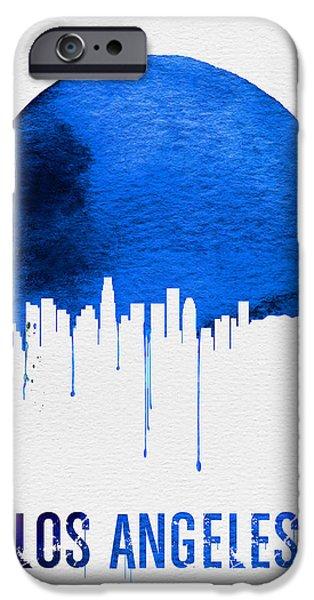 Los Angeles Skyline Blue IPhone 6s Case by Naxart Studio