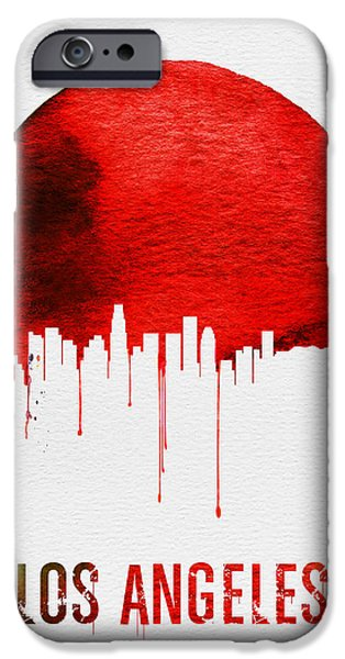 Los Angeles Skyline Red IPhone 6s Case by Naxart Studio
