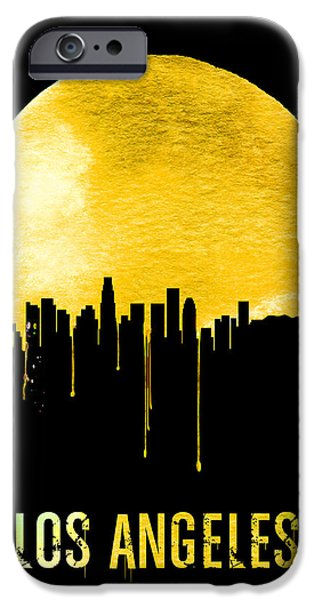 Los Angeles Skyline Yellow IPhone 6s Case by Naxart Studio
