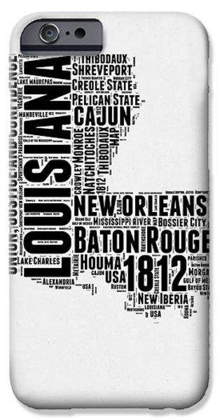 Louisiana Word Cloud Map 2 IPhone 6s Case by Naxart Studio