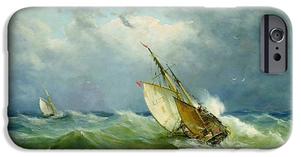 Lowestoft Trawler In Rough Weather IPhone 6s Case by John Moore