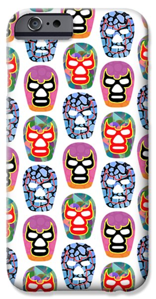 Lucha Libre Masks IPhone Case by Edward Fielding