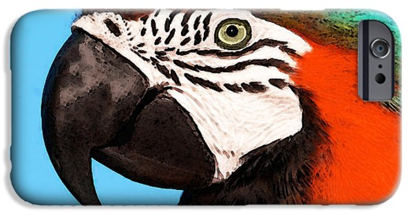 Macaw Bird - Rain Forest Royalty IPhone 6s Case by Sharon Cummings