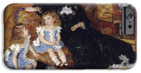Madame Georges Charpentier And Her Children IPhone Case by Pierre Auguste Renoir
