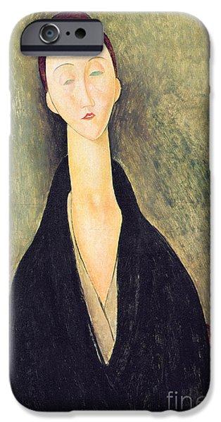 Madame Hanka Zborowska IPhone Case by Amedeo Modigliani