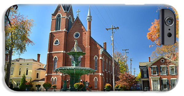 Madison Church And Water Fountain IPhone Case by Amy Lucid