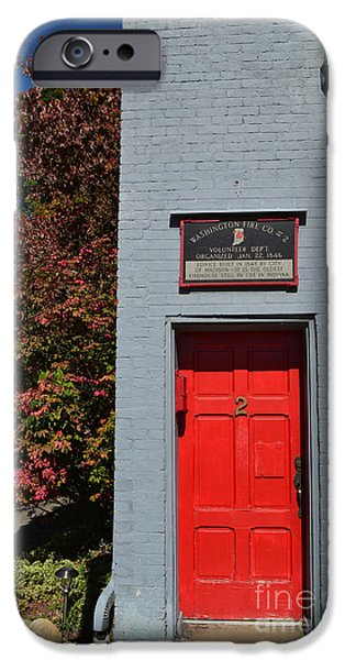 Madison Red Fire House Door IPhone Case by Amy Lucid