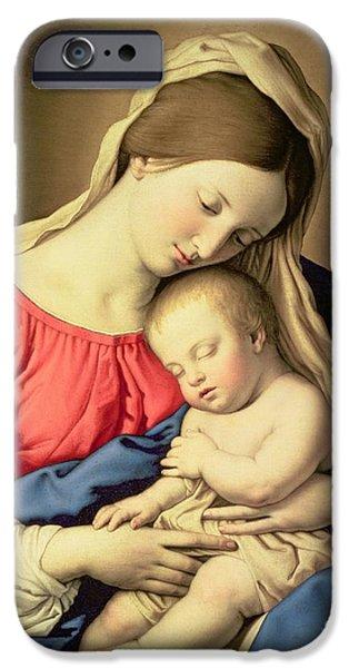 Madonna And Child IPhone Case by Il Sassoferrato
