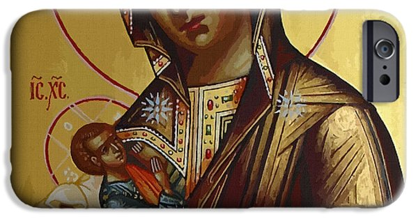 Madonna Enthroned IPhone Case by Christian Art