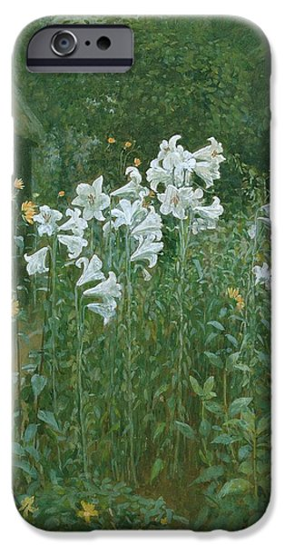 Madonna Lilies In A Garden IPhone 6s Case by Walter Crane