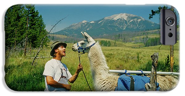 Man Teasing A Llama IPhone 6s Case by Jerry Voss