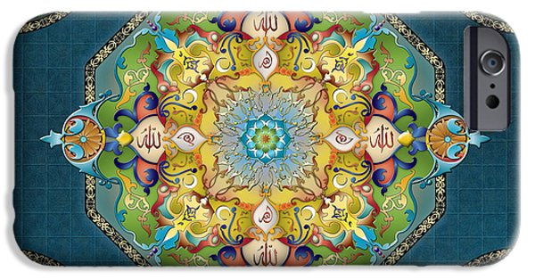 Mandala Arabesque Sp IPhone Case by Bedros Awak