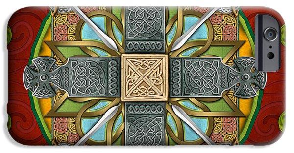 Mandala Celtic Glory IPhone Case by Bedros Awak