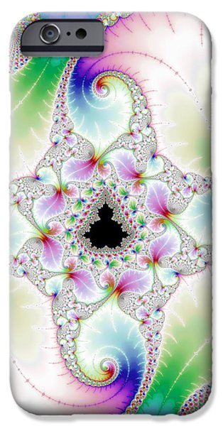 Mandebrot In Pastel Fractal Wonderland IPhone Case by Matthias Hauser