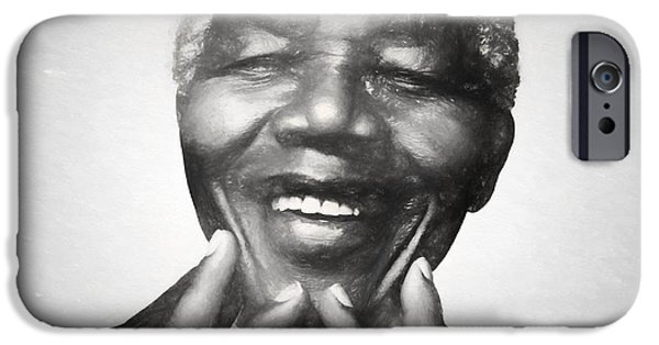 Mandela Charcoal Sketch IPhone 6s Case by Dan Sproul