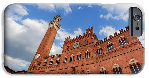 Mangia Tower, Italian Torre Del Mangia In Siena, Italy - Tuscany Region IPhone Case by Michal Bednarek