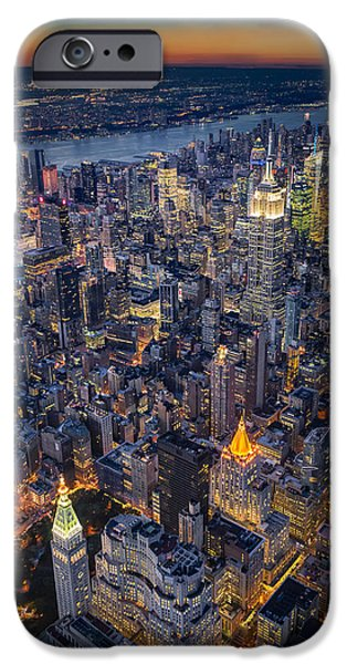 Manhattan New York City From Above IPhone Case by Susan Candelario