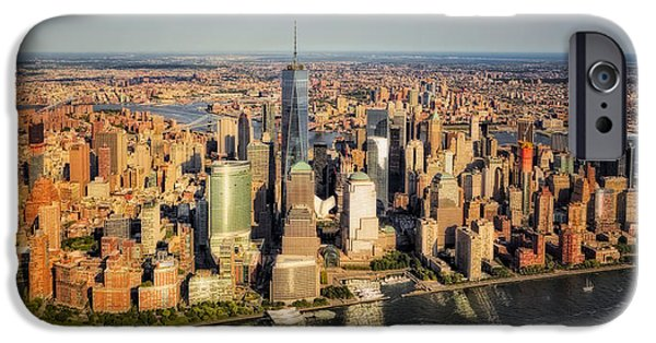 Manhattan Nyc Aerial View IPhone Case by Susan Candelario