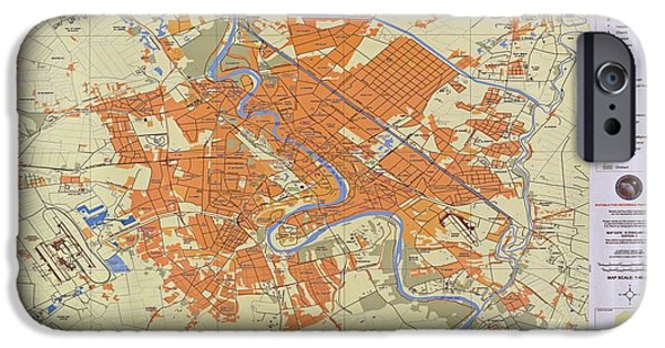 Map Of Baghdad Iraq IPhone Case by Pd