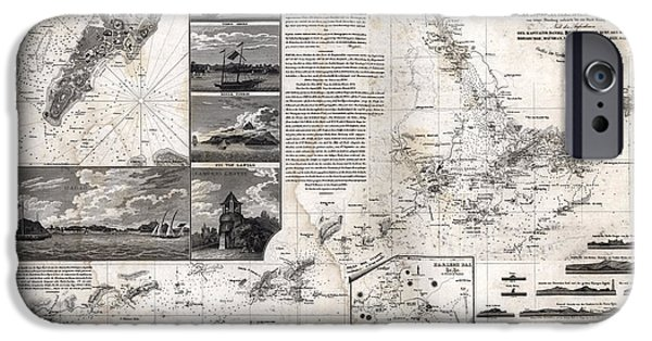 Map Of Macao, Hong Kong And Pearl River Estuary - 1834 IPhone Case by Pablo Romero
