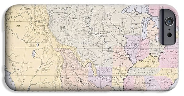 Map Showing The Localities Of The Indian Tribes Of The Us In 1833 IPhone 6s Case by Thomas L McKenney and James Hall