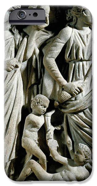 Marble Sarcophagus, Relief Depicting Prometheus Myth IPhone Case by Roman School