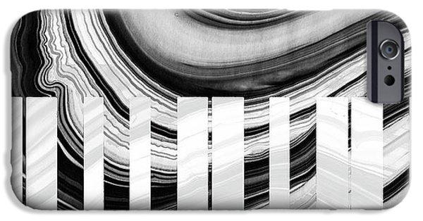 Marbled Music Art - Piano Keys - Sharon Cummings IPhone Case by Sharon Cummings