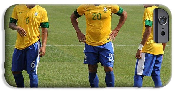 Marcelo Hulk And Neymar IPhone Case by Lee Dos Santos