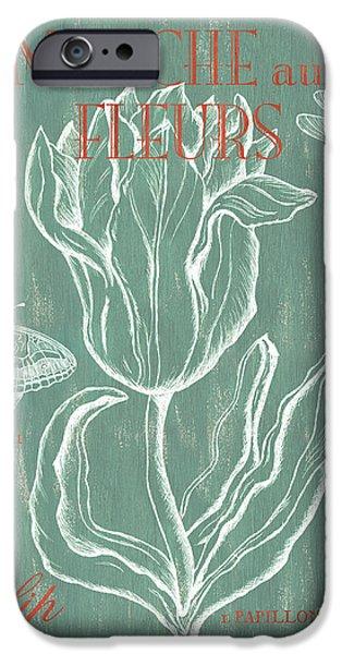 Marche Aux Fleurs IPhone Case by Debbie DeWitt