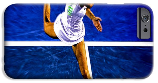 Maria Sharapova In Motion IPhone Case by Brian Reaves