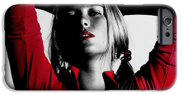 Maria Sharapova Red Hot IPhone Case by Brian Reaves