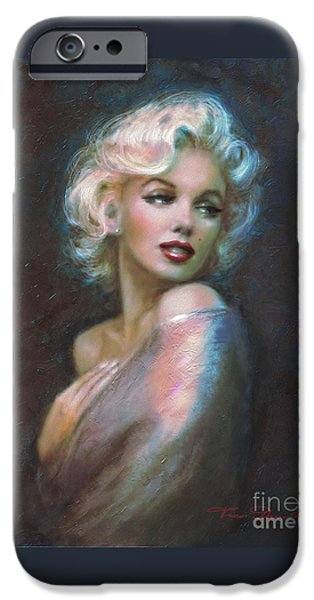 Marilyn Romantic Ww Dark Blue IPhone 6s Case by Theo Danella