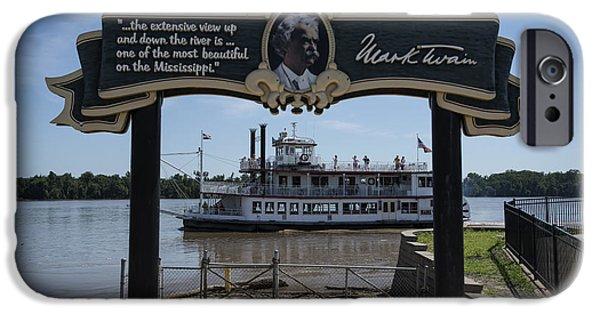Mark Twain On The Big Muddy IPhone Case by David Bearden