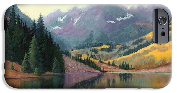 Maroon Bells In October IPhone Case by Janet King