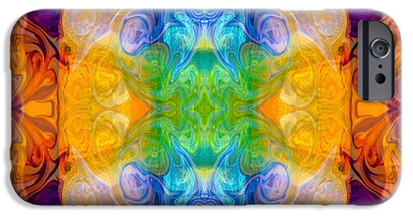 Marrying A Rainbow Abstract Bliss Art By Omashte IPhone Case by Omaste Witkowski