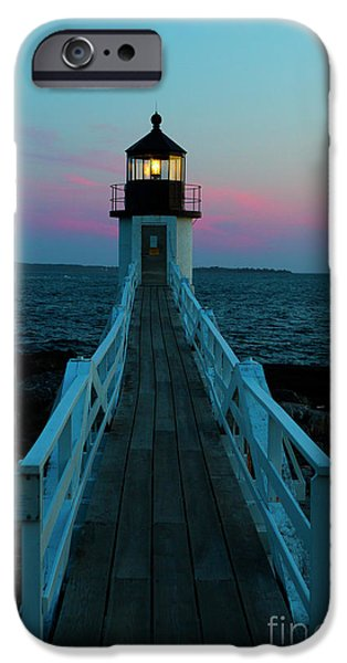 Marshall Point Lighthouse At Sunset IPhone Case by Diane Diederich