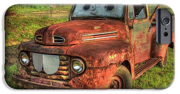 Tom Mater Truck 1950 Ford Truck Art IPhone Case by Reid Callaway