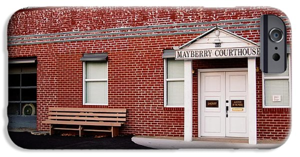 Mayberry Courthouse Nc IPhone Case by Bob Pardue