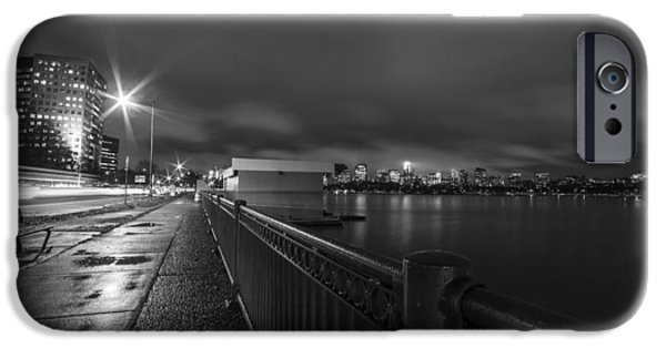 Memorial Drive Charles River Boston Ma Massachusetts Black And White IPhone Case by Toby McGuire