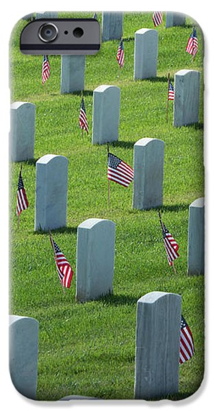 Memorial Flags IPhone Case by Marta Robin Gaughen