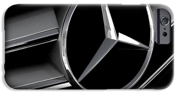 Mercedes Badge IPhone Case by Douglas Pittman