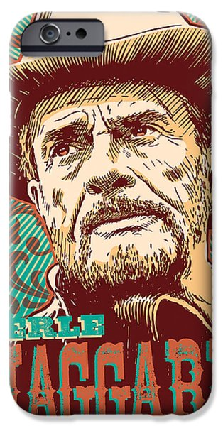 Merle Haggard Pop Art IPhone Case by Jim Zahniser