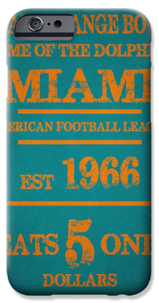 Miami Dolphins Sign IPhone 6s Case by Joe Hamilton