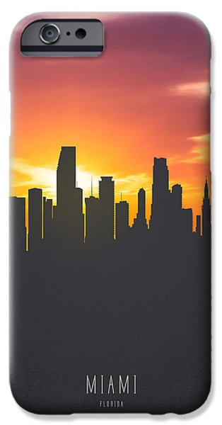 Miami Florida Sunset Skyline 01 IPhone 6s Case by Aged Pixel