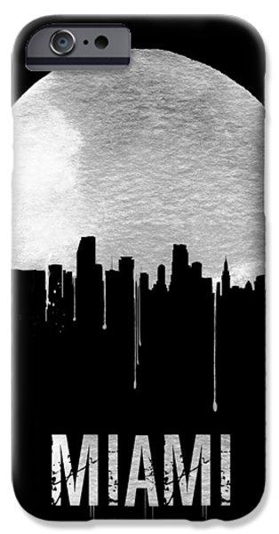 Miami Skyline Black IPhone 6s Case by Naxart Studio