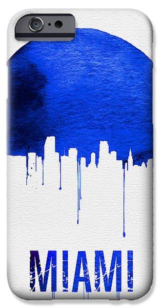 Miami Skyline Blue IPhone 6s Case by Naxart Studio